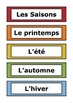 French Word Wall - Days of the Week, Months of the Year, Seasons