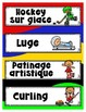 French Word Wall • JEUX D'HIVER