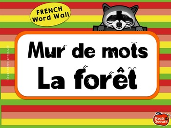 French Word Wall / La Forêt