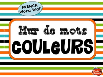French Word Wall / Les Couleurs