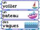 French Word Wall / L'océan / Mot du jour / Mots fréquents / Cercles / Centres