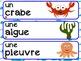French Word Wall / L'océan