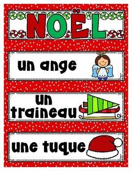 French Word Wall - NOËL