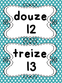 French Word Wall for FSL Classrooms
