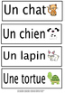 French Word Wall words - Les animaux