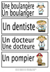 French Word Wall words - Les professions