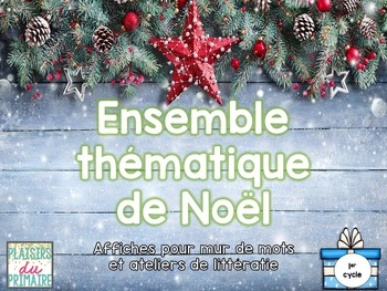 French - Word wall pack - Décembre - Noël