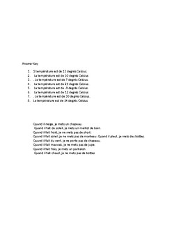 French Worksheet-Weather