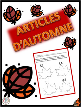 French: Definite  and Indefinite Articles Worksheets