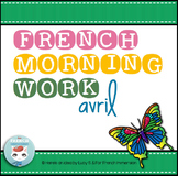 French Morning Work AVRIL | Petit travail du matin | French bell work PRINTEMPS