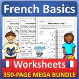 Beginner French Worksheets MEGA BUNDLE