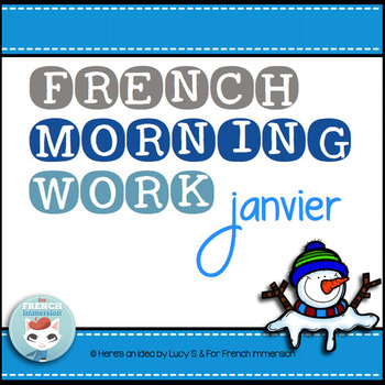 French Worksheets JANUARY Language Morning Work