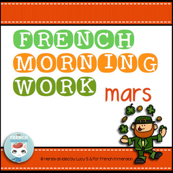 French Worksheets MARCH Language Morning Work