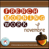 French Bell Work NOVEMBRE | Petit travail du matin | French morning work