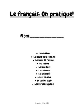 French Worksheets - On pratique!