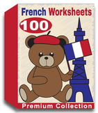 French Worksheets for Kindergarten (100 Worksheets)