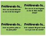 "French ""Would You Rather"" cards for Vocabulary and Conversation"