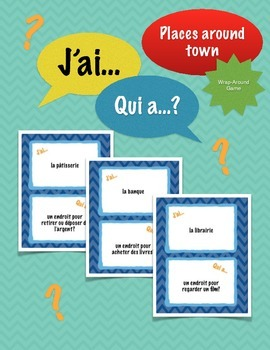 J'ai../Qui a..? (Places around town): French Wrap-Around Game Speaking Activity
