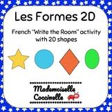 French Write the Room (2D Shapes) / Écris la Salle de Classe (les Forms 2D)