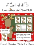 French Write the Room -- Christmas Reindeer Names