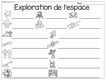 French Write the Room: Exploration de l'space et le système solaire