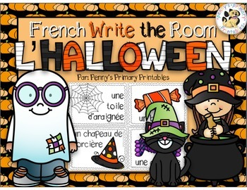 French Halloween Write the Room: L'Halloween