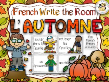 French Fall Write the Room: L'automne