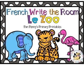 French Zoo Write the Room