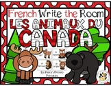French Animals of Canada Write the Room: Les Animaux du Canada