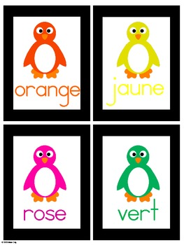French Write the Room -- Penguin Colors