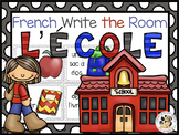 French School Write the Room: l'école (Digital components