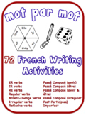 French Writing Activities.  12 Verb Topics.  72 Resources in the Bundle.