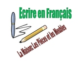 French Writing Activity : House, Room, Furniture Vocab and Adj