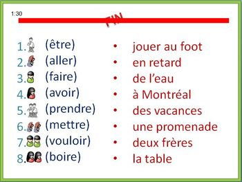 French Writing Activity -Irregular Verbs (Builds Writing Confidence)