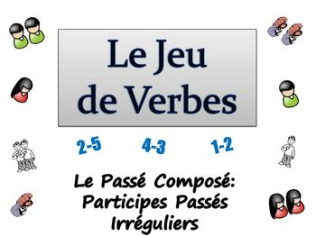 French Writing Activity : Passe Compose-Irregular  Past Participles