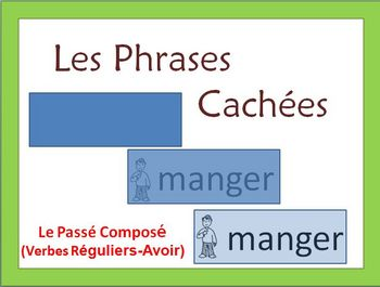 French Writing Activity -Passe Compose w/ reg Verbs