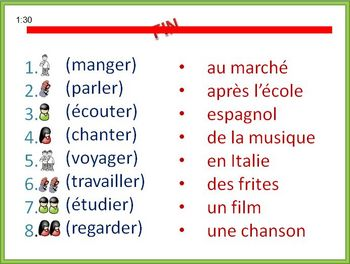 French Writing Activity -Present Tense (Builds Writing Confidence)