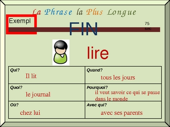 French Writing Activity with Irregular Verbs (Detailed Sentences)