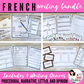 French Writing BUNDLE / Ensemble d'écriture: Comment écrire...