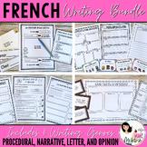"""French Writing BUNDLE / Ensemble d'écriture: """"Comment écrire..."""""""