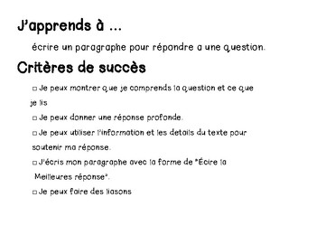 French - Writing Better Answers