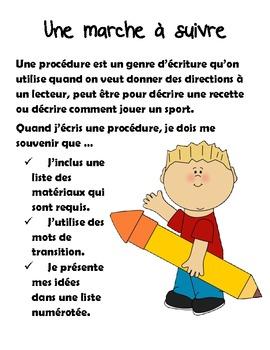 Français - Writing Genre Posters
