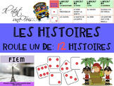 """French: Writing: """"Les histoires, Roule un dé"""", écriture, textes narratifs"""