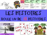 """French: Writing: """"Les histoires, Roule un dé"""", écriture, t"""