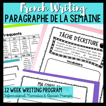 French Writing Paragraph of the Week / Écriture: Paragraph