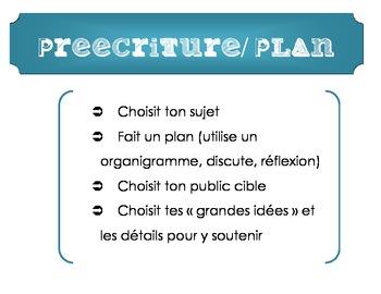 French Writing Process