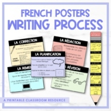 French Writing Process Pencil & Posters - Le processus d'écriture
