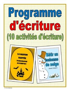 French Writing Program (10 activities)