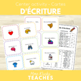 French Writing Prompt Cards - Cartes d'écriture