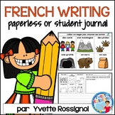 French Writing Prompts Paperless or student journal  | Écr